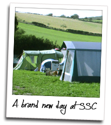 Beautiful sunny day at  our Dorset Naturist Campsite!