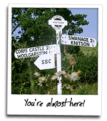 We are within easy reach of Swanage, Corfe, and many other places